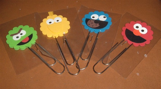 sesame street bookmarks